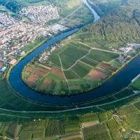 Neckarschleife bei Mundelsheim